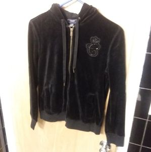 EUC Chaps velvet hooded hoodie sweatshirt